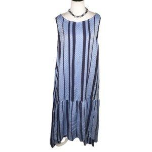 ASOS Blue Boho Sleeveless Hi/Lo Maxi Dress 16